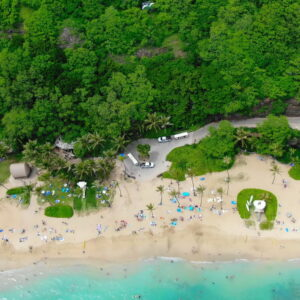 Aerial View of Hanauma Bay beach