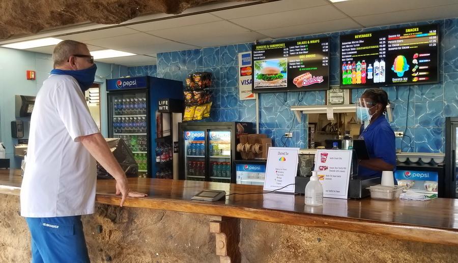 Snack Bar at Hanauma Bay